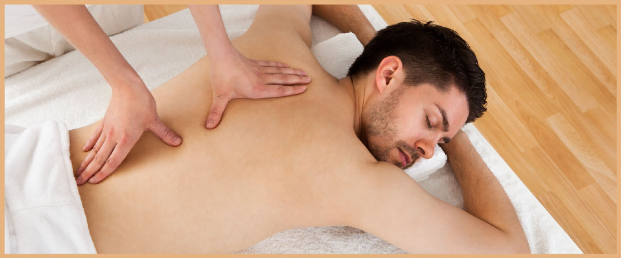 man receiving Windsor massage therapy